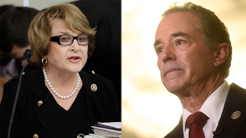 "Rep. Chris Collins, R-N.Y., called Rep. Louise Slaughter, D-N.Y., ""a despicable human being"" Thursday."