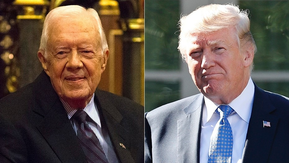 Former President Jimmy Carter says the media have been tougher on President  Trump than any other