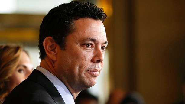 Representative Jason Chaffetz (R-UT), a candidate for Speaker of the U.S. House of Representatives, speaks to the media after leaving the Republican Caucus meeting on Capitol Hill in Washington, October 8, 2015. REUTERS/Jim Bourg - TB3EBA81DWR2B