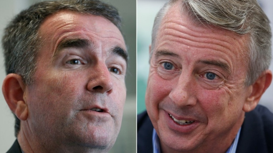 Democratic nominee Ralph Northam (left) and Republican nominee Ed Gillespie (right) face off in Tuesday's gubernatorial race in Virginia.