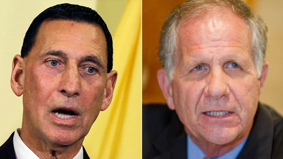GOP Reps. Frank LoBiondo, left, and Ted Poe, right, announced Tuesday they will retire at the end of their terms.