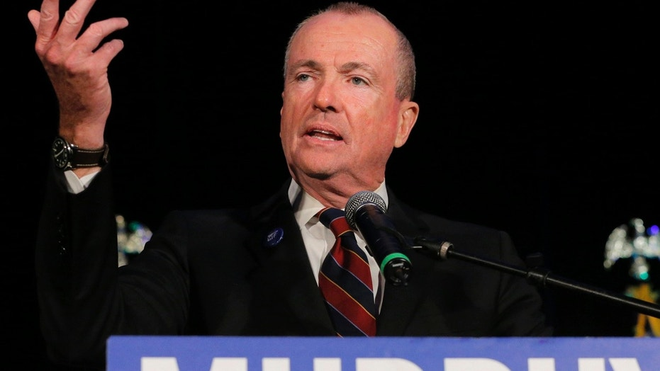 Phil Murphy speaks after being elected Governor of New Jersey, in Asbury Park