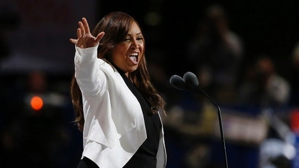 Lynne Patton, vice president of The Eric Trump Foundation, speaks at the Republican National Convention in Cleveland, Ohio, U.S. July 20, 2016. REUTERS/Mario Anzuoni - HT1EC7L04C6OI