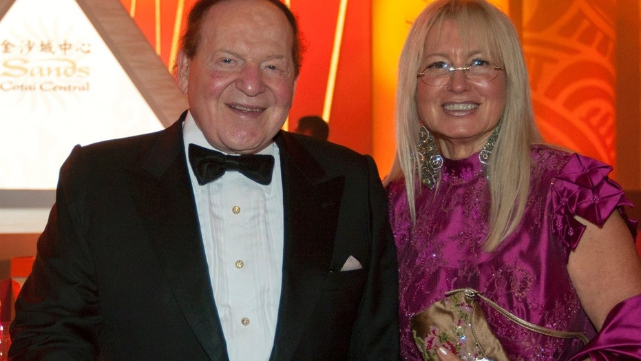 FILE: Las Vegas Sands Chairman and CEO Sheldon Adelson and his wife Miriam Ochsorn. Adelson reportedly disagrees with Stephen Bannon on key GOP elections.