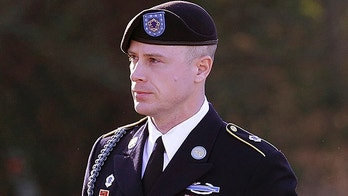 FILE - In this Jan. 12, 2016, file photo, Army Sgt. Bowe Bergdahl arrives for a pretrial hearing at Fort Bragg, N.C.   Bergdahl will appear before a judge, Monday, Oct. 16, 2017,  to enter an expected guilty plea to charges that he endangered comrades by walking off his remote post in Afghanistan in 2009. (AP Photo/Ted Richardson, File)