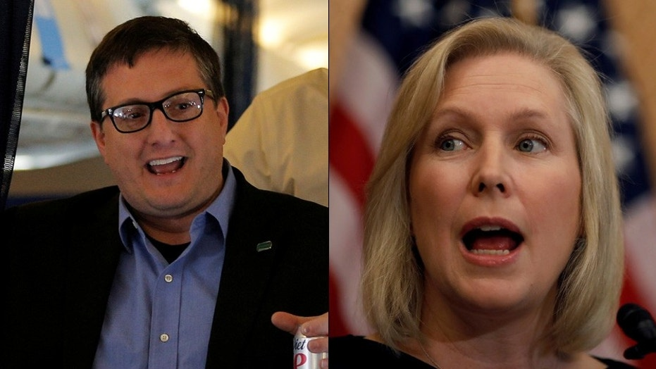 Philippe Reines, left, is not happy with Sen. Kirsten Gillibrand's criticism of Bill Clinton.