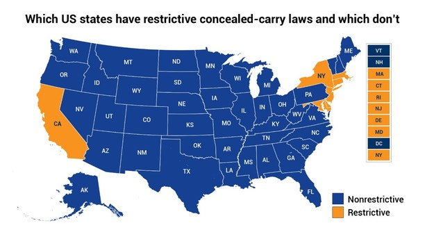 Summary Of Hr 38 Concealed Carry Reciprocity Act Of 2017 - Us-concealed-carry-reciprocity-map