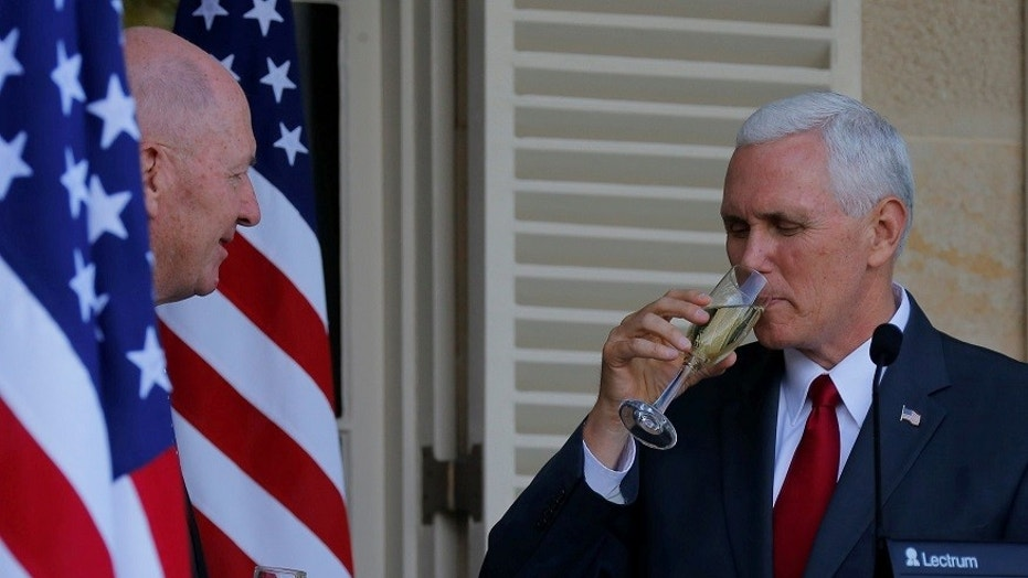 According to reports, Vice President Mike Pence spoke of his brothers in the fraternity for hiding barrels.