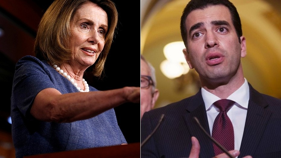 House Minority Leader Nancy Pelosi, D-Calif., and Rep. Ruben Kihuen, D-Nev.