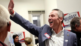 FILE - In this Aug. 19, 2014 file photo, Ed Murray, then a candidate for the Republican nomination for Wyoming secretary of state, waves to supporters as they enter his watch party for the primary, at his campaign headquarters in Cheyenne, Wyo. Murray, who was elected secretary of state in 2014, is denying a woman's claim that he sexually attacked her over 35 years ago when they both worked in the same law firm. (Miranda Grubbs /The Wyoming Tribune Eagle via AP, File)