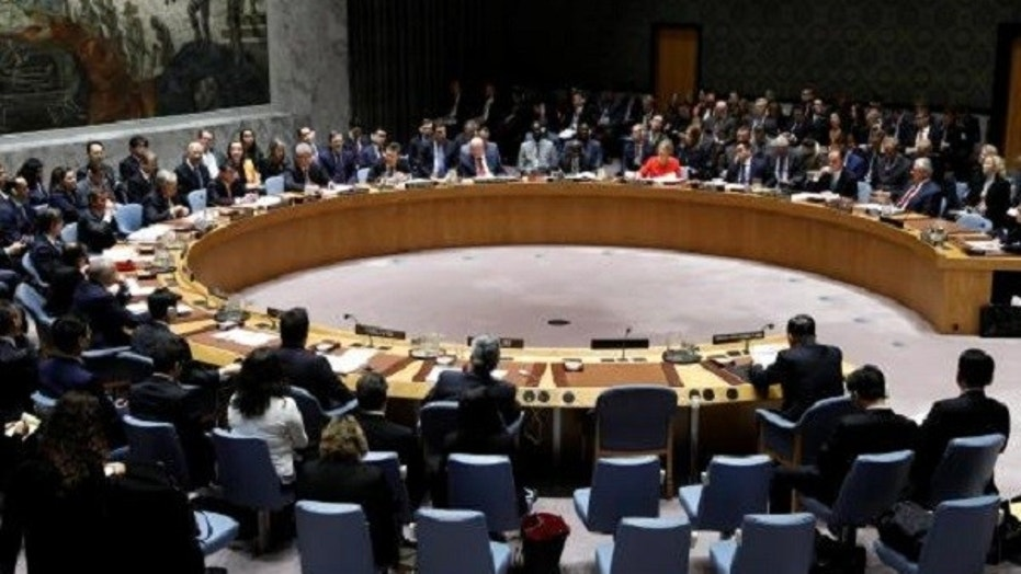 The United Nations Security Council meets on North Korea's nuclear program at U.N. headquarters in New York City, Dec. 15, 2017.