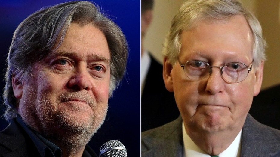 Senate Majority Leader Mitch McConnell's feud with Steve Bannon is likely to extend into 2018.