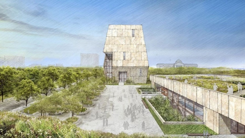 The Obama Presidential Center design, as seen from the south side of the campus.