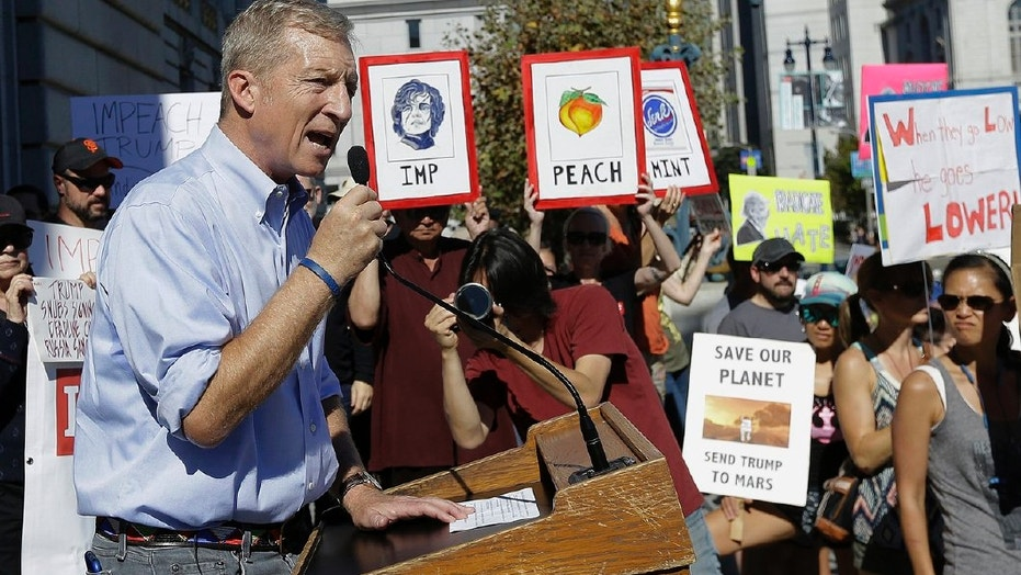 Billionaire climate activist Tom Steyer will not run for office in 2018, but plans to funnel $30 million into congressional races as he attempts to flip Republican seats in Congress to the Democrats.
