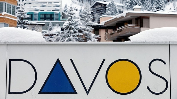 A Davos logo is seen before the annual meeting of the World Economic Forum (WEF) in Davos, Switzerland January 15, 2017. REUTERS/Ruben Sprich - RC1102C85130