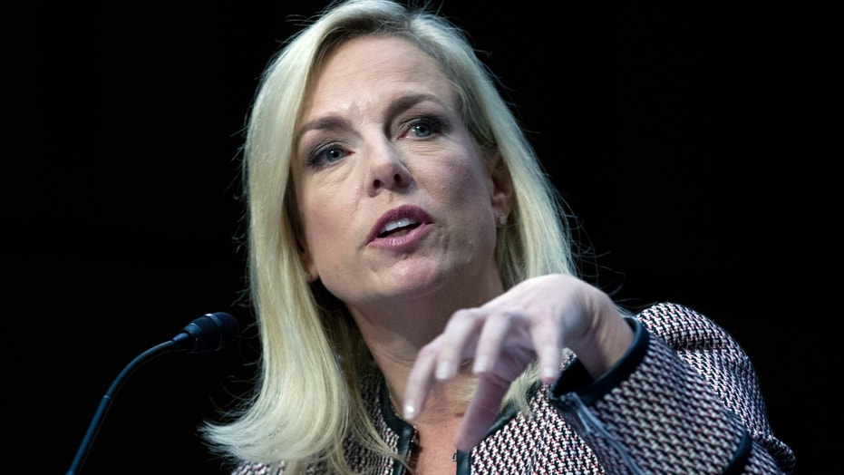 Homeland Security Secretary Kirstjen Nielsen testifies before the Senate Judiciary Committee Tuesday.
