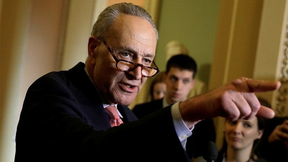 Senate Minority Leader Chuck Schumer, D-N.Y., confirms that Democrats in his chamber have all backed the effort to repeal the scrapping of net neutrality rules.