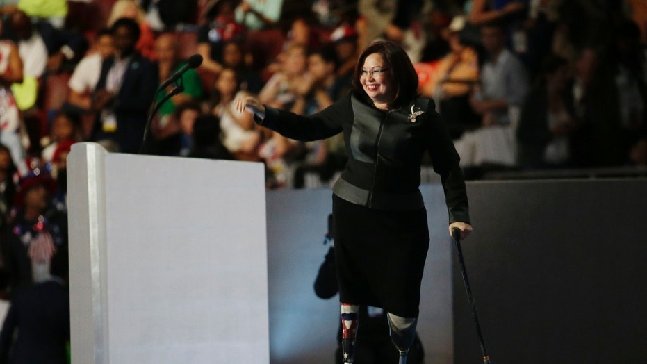 Sen. Tammy Duckworth, seen in this file photo from July 2016, announced that she and her husband are expecting their second child this spring.