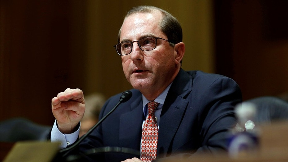 Alex Azar II testifies before the Senate Finance Committee on his nomination to be Health and Human Services secretary in Washington, U.S., January 9, 2018.