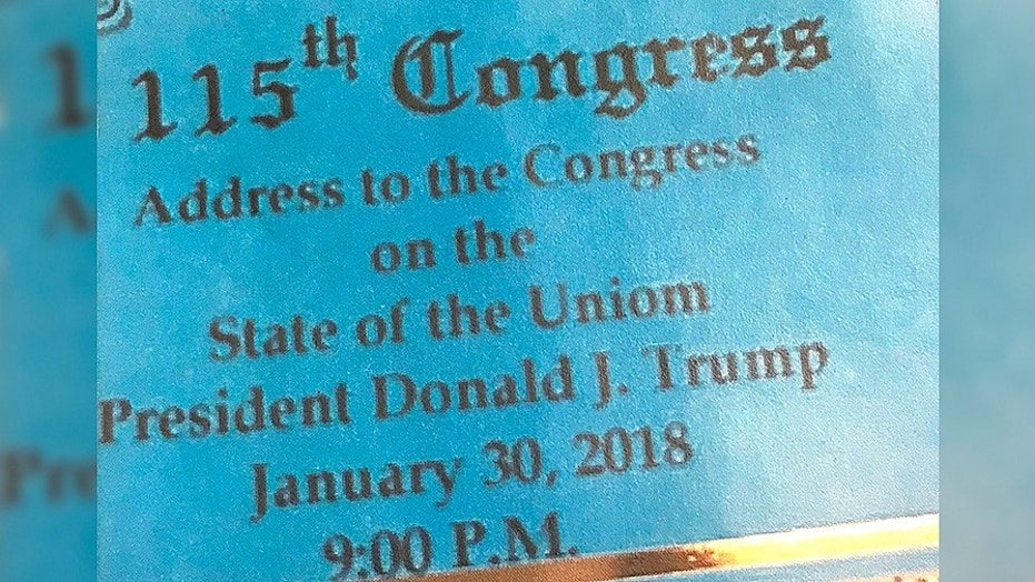 Some State of the Union tickets had a typo.