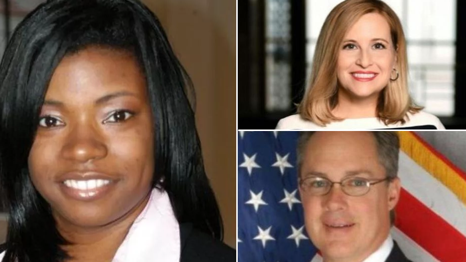 Nashville Councilwoman Tanaka Vercher, left, has asked the council's lawyer to determine her authority to investigate the finances of Mayor Megan Barry, top right, who admitted having an extramarital affair with Sgt. Robert Forrest, her former security chief.