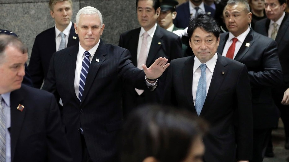 Pence in Japan to boost pressure on North Korea