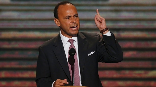 U.S. Rep. Luis Gutierrez (D-IL) addresses delegates during the second session of the Democratic National Convention in Charlotte, North Carolina, September 5, 2012.   REUTERS/Jason Reed (UNITED STATES  - Tags: POLITICS ELECTIONS)   - TB3E8951NOFXO