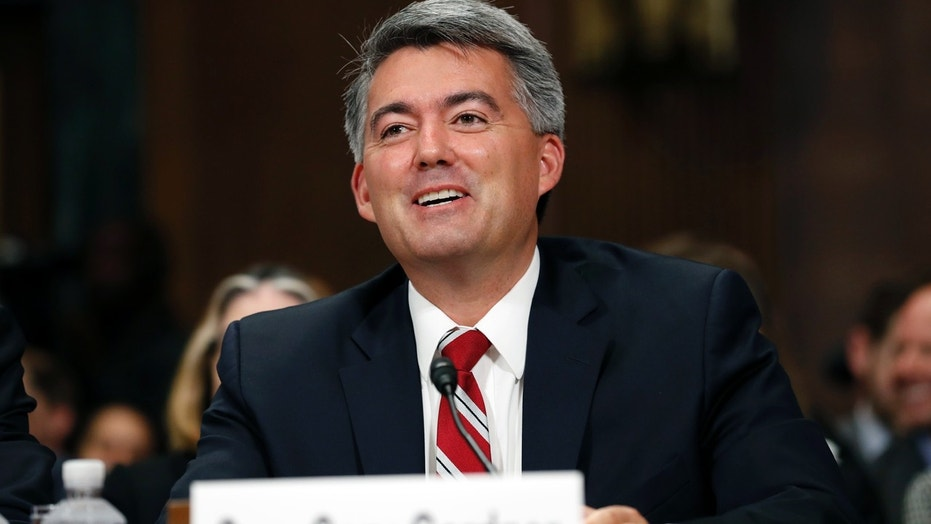 Sen. Cory Gardner, R-Colo., addresses a Senate Judiciary Committee meeting on Capitol Hill this past September.
