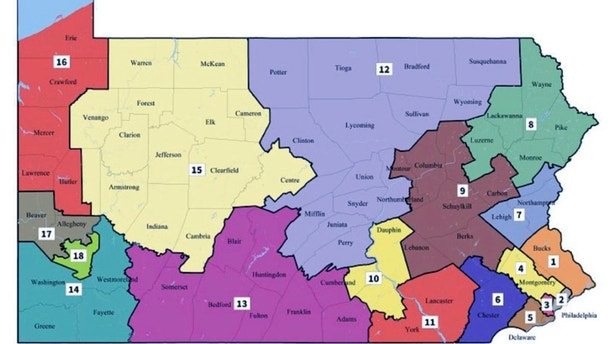 Pennsylvania Supreme Court Issues New Congressional Map Which - Map pa