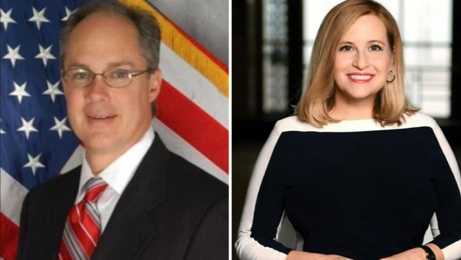 Nashville Mayor Megan Barry, right, admitted to having an extramarital affair with the former head of her security detail, Sgt. Robert Forrest, left.