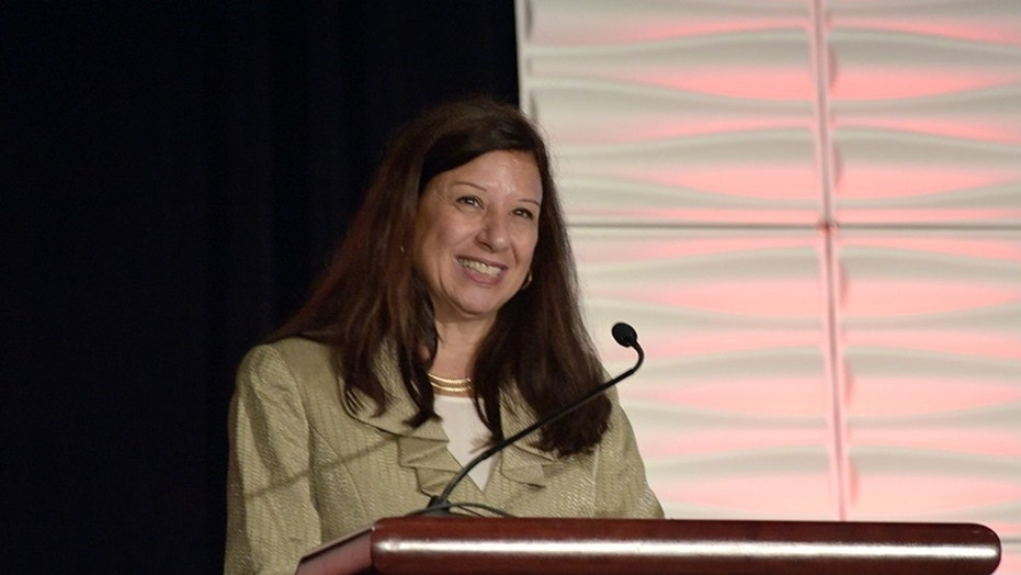 Acting Secretary of Homeland Security Elaine Duke delivers remarks at the International Association of Venue Managers VenueConnect 2017 conference in Nashville, Tennessee, Aug. 7, 2017.
