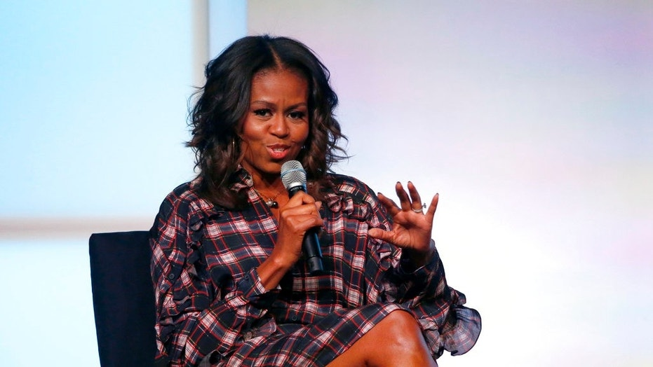 Former first lady Michelle Obama speaks during the Obama Foundation Summit this past November.