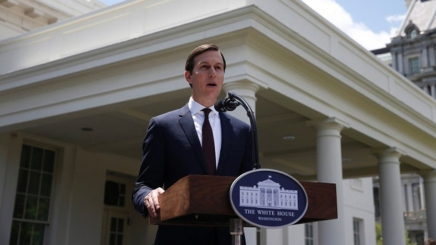 White House Senior Adviser Jared Kushner speaks to members of the White House press following his appearance before a closed session of the Senate Intelligence Committee as part of their probe into Russian meddling in the 2016 U.S. presidential election in Washington, U.S. July 24, 2017. REUTERS/Joshua Roberts - HP1ED7O1C385H
