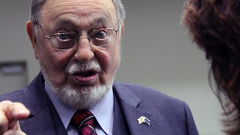 "This Oct. 17, 2016, photo shows U.S. Rep. Don Young gesturing while speaking with a reporter after a debate in Anchorage, Alaska. The most senior member in the U.S. House has argued against gun control by wondering how many Jews ""were put in the ovens"" during the Holocaust because they weren't armed.  Young, a Republican from Alaska, made the comments at a meeting in Juneau when responding to a question about what the federal government and municipalities can do to stop school shootings.  (AP Photo/Mark Thiessen)"