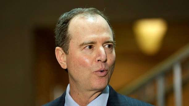 U.S. House Permanent Select Committee on Intelligence ranking member Representative Adam Schiff (D-CA) speaks with reporters about the Committee's Russia investigation on Capitol Hill in Washington, U.S., March 30, 2017. REUTERS/Yuri Gripas - RC19665E3000