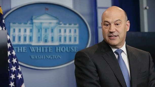 U.S. National Economic Director Gary Cohn participates in the unveiling of  the Trump administration's tax reform proposal in the White House briefing room in Washington, U.S, April 26, 2017. REUTERS/Kevin Lamarque - HP1ED4Q1E1Y4U