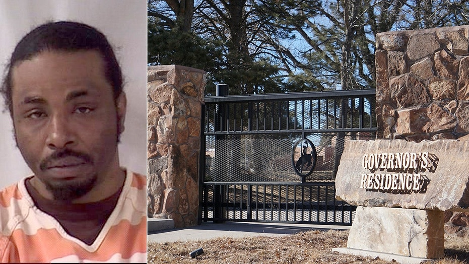 Authorities say Antoine Lewis, 35, was carrying a hunting knife when he entered the residence of Wyoming Gov. Matt Mead.