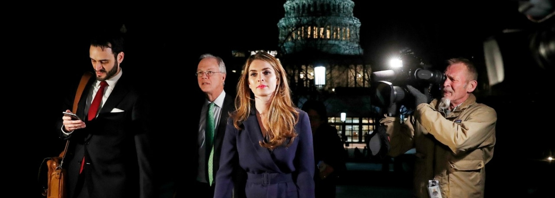 FILE PHOTO: White House Communications Director Hope Hicks leaves the U.S. Capitol after attending the House Intelligence Committee closed door meeting in Washington, U.S., February 27, 2018. REUTERS/Leah Millis/File Photo - RC1357FD5F80
