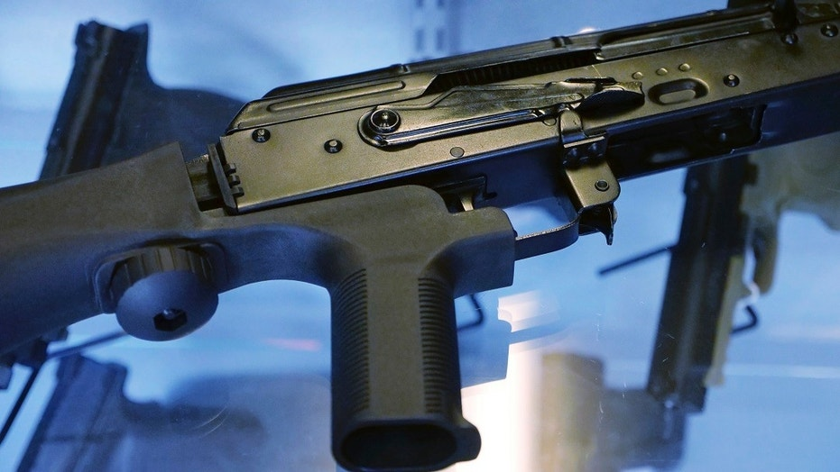 The Trump administration said Saturday it has taken the first step in the regulatory process to ban bump stocks, likely setting the stage for long legal battles with gun manufacturers while the trigger devices remain on the market.