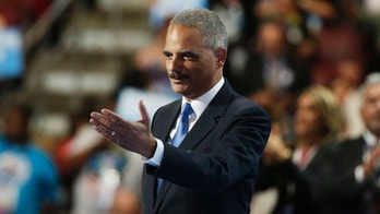 Former Attorney General Eric Holder takes the stage during the Democratic National Convention in Philadelphia, Pennsylvania, U.S. July 26, 2016. REUTERS/Gary Cameron - HT1EC7R00ICHH