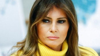 """In this Feb. 5, 2018 photo, first lady Melania Trump listens as she meets with personnel at Cincinnati Children's Hospital Medical Center, in Cincinnati. Melania Trump has cut ties with an adviser whose firm was paid $26 million to help plan the president's inauguration. Mrs. Trump's spokeswoman, Stephanie Grisham, confirms Tuesday that the first lady's office has """"severed the gratuitous services contract"""" it had with Stephanie Winston Wolkoff.  (AP Photo/John Minchillo)"""