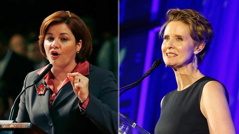 "Christine Quinn, left, is walking back her slam of former ""Sex and the City"" star Cynthia Nixon (right) as an ""unqualified lesbian"" after Nixon jumped into the Democratic race for governor of New York on Tuesday."