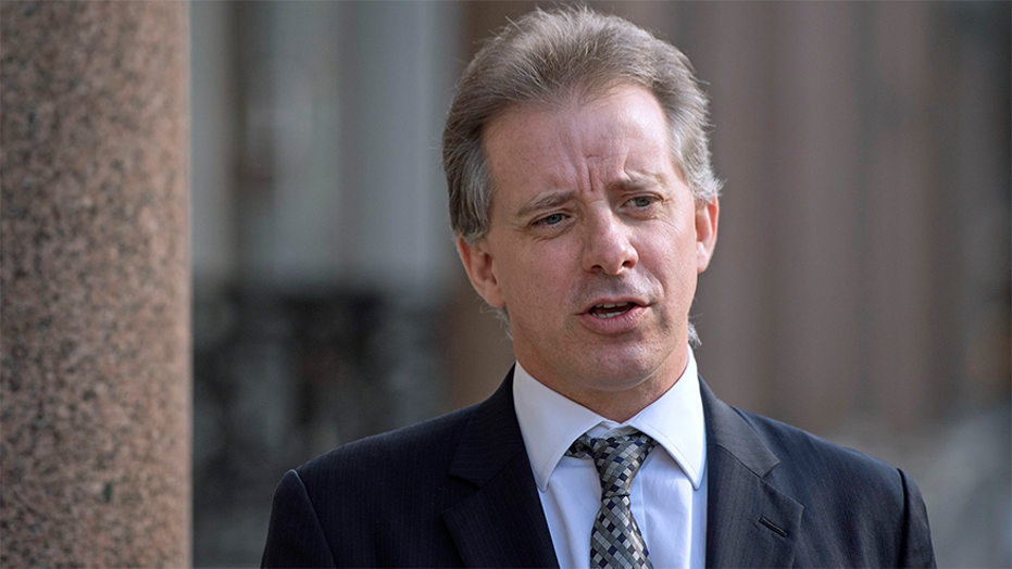 Former MI-6 agent Christopher Steele is pictured in March 2017.
