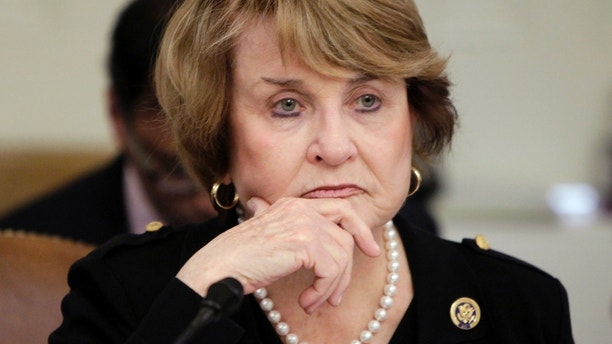 Chairwoman Louise Slaughter (D-NY) sits during the House Committee on Rules meeting on Capitol Hill in Washington March 20, 2010. REUTERS/Yuri Gripas (UNITED STATES - Tags: POLITICS) - GM1E63K1QSC01