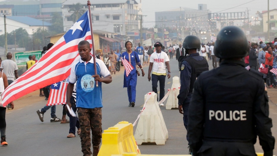 Liberians gather for the swearing-in of President-elect George Weah in the capital, Monrovia, in January.
