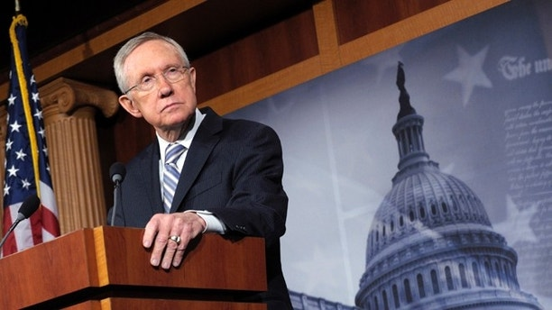 Senate Majority Leader Harry Reid of Nev. listens to a question during a news conference on Capitol Hill in Washington, Wednesday, Nov. 7, 2012, to discuss Tuesday's election results. (AP Photo/Susan Walsh)