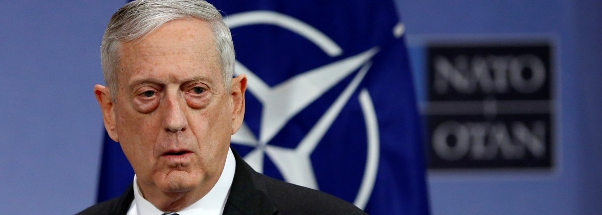 U.S. Secretary of Defence Jim Mattis addresses a news conference during a NATO defence ministers meeting at the Alliance headquarters in Brussels, Belgium, February 15, 2018. REUTERS/Francois Lenoir - RC11E611BC10