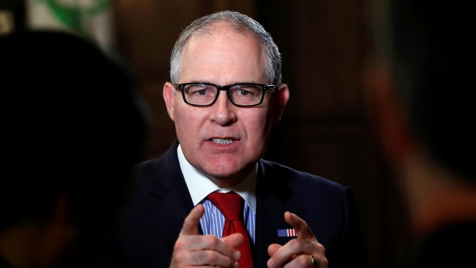 Environmental Protection Agency Administrator Scott Pruitt speaks during an interview with Reuters journalists in Washington, U.S., January 9, 2018.  REUTERS/Kevin Lamarque - RC19E26A1860