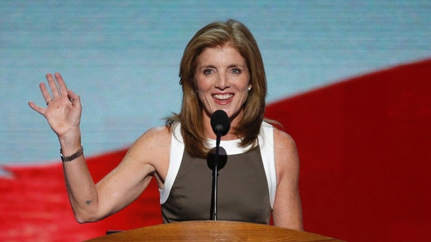 FILE: Sept. 6, 2012: Caroline Kennedy addresses delegates during the final session of the Democratic National Convention in Charlotte, N.C.