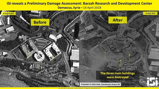 before after syria ISI ImageSat International